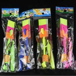 Parachute Toy Wholesale NZ - LED Arrow Helicopter LED Amazing Arrow Flying Helicopter Umbrella Parachute Kids Toys LED Light Christmas Party Favor CCA10053 2000pcs