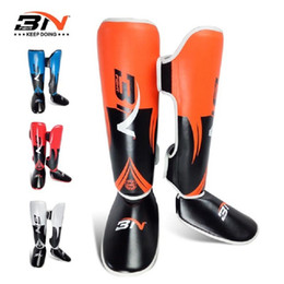 Discount kids kick boxing - Shin Guards PU Leather Adult Kids Muay Thai Sanda Kick for Boxing Leggings guantes Training Karate Shank Leg Protectors