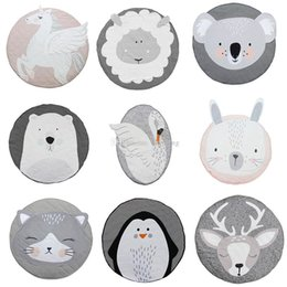 animal floor mats NZ - INS Baby Creeping Mats Fox deer Unicorn Rabbit lion swan Play Game Mat Decorative Crawling Blanket Kids Room Floor Carpet 13 styles C4439