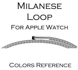 Link cLosure online shopping - For iWatch Band luxury Milanese Loop Strap Link Bracelet Stainless Steel Adjustable Closure For Apple Watch Series Watchband MM