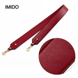 men red belt NZ - wholesale 100% Genuine leather Women Men replacement straps shoulder belt bag handbag accessories parts for bags ornament Red STP090