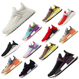 a7e5471d679e Hot sale New Pharrell Williams Human Race NMD men women Sports Running  Shoes Black White Grey Nmds primeknit PK runner womens Sneaker scarpe