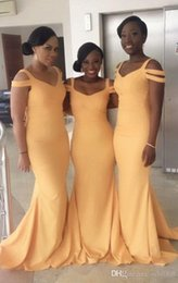 orange girls floor length fall formals NZ - African Black Girl Long Mermaid Bridesmaid Dresses 2017 New Sexy Sleeveless Floor Length Formal Wedding Gown Evening Dresses Custom Made