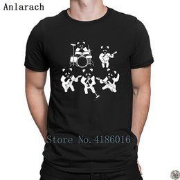 White Shirts Styles Designs For Men Australia - Panda band t-shirt summer top Gift Natural Designing t shirt for men cotton simple Popular Summer Style solid color