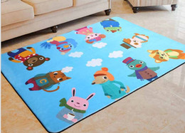 rugs baby room Canada - 100*150cm Kids Play Game Mats Round Carpet Rugs Mat Cotton Swan Crawling Blanket Floor Carpet For Kids Room Decoration INS Baby Gift