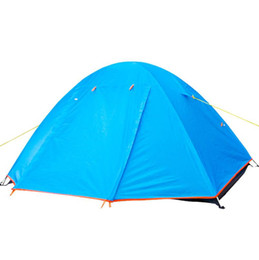 windproof waterproof tents Canada - Outdoor Camping Tent For Rest Travel 2 Persons 3 Double Layer Windproof Waterproof Winter Professional Camp Hiking Climbing 210T Tents