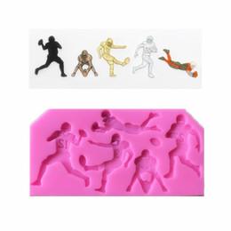 $enCountryForm.capitalKeyWord NZ - New rugby player trophy molding silica gel mold DIY cake turning sugar tool Chocolate Candy Mold