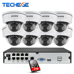 poe dome network camera UK - 8CH 1080P POE NVR Video Surveillance Camera System 2MP HD Network IP Camera Weatherproof Vandalproof CCTV NVR System