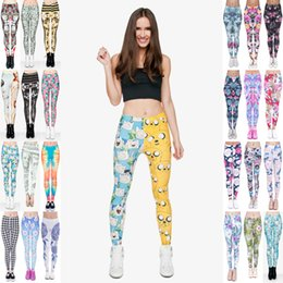 72482977f6 Girl Leggings Mix 32 Styles Dye Colorful Daisy Dreamcatcher Triangle Hawaii  Dama Kier Poker Queen of Hearts Cathedral 3D Print Pants (JL064)