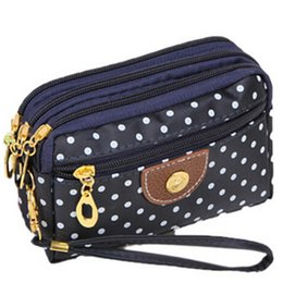 $enCountryForm.capitalKeyWord Canada - 6 Colors Polka Dots Print Women Coin Purse Clutch Wristlet Wallet Bag Phone Key Case Makeup Bag Women credit card holder Tote