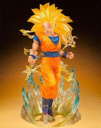 Free Goku Figures Australia - 15cm Super Saiyan 3 Dragon Ball Z Goku Action Figure PVC Collection figures toys for christmas gift brinquedos free shipping