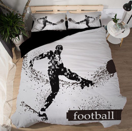 $enCountryForm.capitalKeyWord Australia - Bedding Sets 3D Sporting Duvet Covers New Style Bed Sheets Polyester Printing Volleyball Boxing Football Twin Queen King Size 3pcs Wholesale