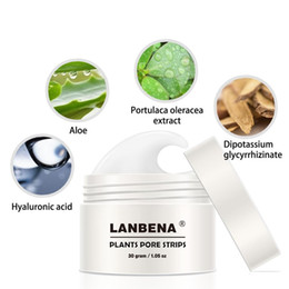 Deep Cleansing Nose Australia - Hot sale New Style LANBENA Blackhead Remover Nose Mask Pore Strip Black Mask Peeling Treatment Black Deep Cleansing Skin Care 30g