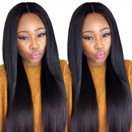 Brown Straight Wig Part Australia - Deep Part Lace Front Human Hair Wig Silky Straight Full Lace Wig Malaysian Virgin Hair 150% Density Pre Plucked Hairline With Baby Hair