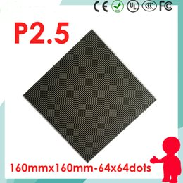 64x64 a mené la matrice 1/32 scan d'intérieur SMD2121 3in1 RVB polychrome 160 * 160mm module de P2.5 LED pour l'écran d'affichage à LED d'intérieur de HD