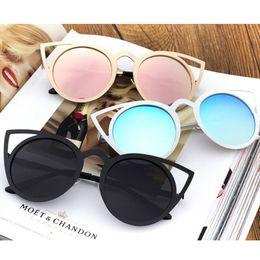 Cheap Ladies Designer Sunglasses NZ - Fashion Cat Eye Sunglasses Women Brand Designer Sun Glasses For Ladies Vintage Cateye Mirror Colorful Female Gafas De Sol Cheap