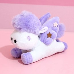cute carton animals 2019 - Cute Stuffed Animals Soft Plush Doll Toy Small Pendant Carton Horse Keychains Bag Toys For Girls Children cheap cute car