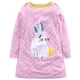 Wholesale Kids Dress Jersey Baby Girl Dress Hot Sale Autumn Cotton Dresses for Kids Clothing Baby Girl Clothes