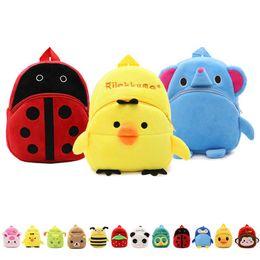 $enCountryForm.capitalKeyWord Canada - Baby Grils Boys Plush Animal Backpacks Ladybug Puppy Bee Duck Monkey 29 Design Zoo 3D Shoulders Backpack Kindergarten Baby 1-3T