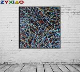 life size pictures Australia - ZYXIAO Big Size modern Oil Painting Art abstract Color stripes Home Decor on Canvas Modern Wall Art No Frame Print Poster picture ys0068