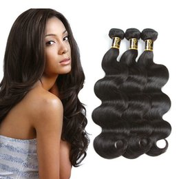 Cheap Virgin Human Hair Extensions Australia - 8A Brazilian Virgin Hair Body Wave Unprocessed Virgin Human Hair pweuvian Body Wave Bundles Cheap peruvian Hair Weave extension