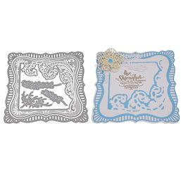 $enCountryForm.capitalKeyWord UK - wholesale 138*138MM Frame Metal Cutting Dies Stencils for DIY Scrapbooking photo album Decorative Embossing DIY Paper Card