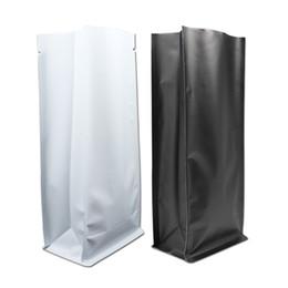 $enCountryForm.capitalKeyWord NZ - 11*27+7.5cm Matte White Black Pure Aluminum Foil Bag Open Top Stand Up Side Gusset Heat Seal Coffee Beans Tea Packaging Pouch