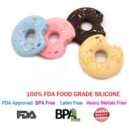 $enCountryForm.capitalKeyWord Australia - FDA-approved Silicone New Lovely Donut Shaped Baby Teething Toys BPA Free Colorful Food Grade Silicone Baby Teether Toys