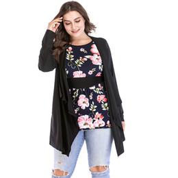 1950s Vintage Shirt Women Blouse Floral Print Slim Waist Long Sleeve Plus  Size 3XL 4XL 5XL 6XL Casual Fake Two Piece Tops tunics 3e1b80de3aea