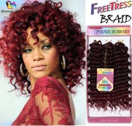 Vente en gros Freetress Deep Wave / Jerry Curly Meilleur cheveux synthétiques 10 pouces sans tresse au crochet tresses profondes torsion profonde savane jerry curl pour femme africaine