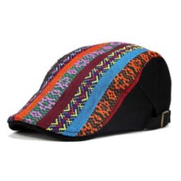 Cotton Berets For Women Australia - Vintage Boho Berets Caps for Men Women Unisex Ethnic Print Floral Cotton Beret Winter Warm Adjustment Visor Caps