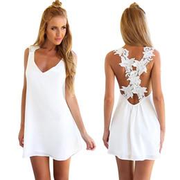 $enCountryForm.capitalKeyWord NZ - Sexy Backless White Flower backless split bodycon Lace Dress Tank Elegant Party Dresses Vestidos