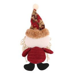Chinese  2017 New Christmas Gift Santa Claus Snow Man Doll Christmas Decorations Xmas Tree Gadgets Ornaments Doll Drop Ornaments manufacturers