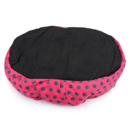 $enCountryForm.capitalKeyWord UK - wholesale Hot Winter Warm Dog Bed Soft Fleece Dot Design Pet Nest With Removable Pet Mat Octagon Shape Kennel Cat Free Shopping