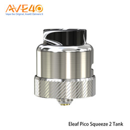 ElEaf airflow tank online shopping - Authentic Eleaf Coral RDA Tank Atomizer With Adjustable Airflow Fit the Pico Squeeze Squonker Mod