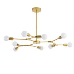 $enCountryForm.capitalKeyWord NZ - European Modern LED Chandelier Lighting Iron Chandeliers Lamp Ceiling Mounted Gold Black For Indoor Lighting 3 6 9 Lights