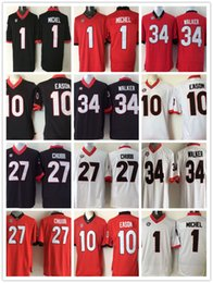 25b7683c0 Mens jerseys 1 Sony Michel 10 Jacob Eason 27 Nick Chubb 34 Herschel Walker  NCAA College Football Shirt Stitched Wholesale