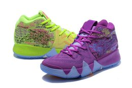 Discount bruce lees shoes - Mens 4 IV Confetti Multicolor Basketball Shoes Christmas Green Flowers Bruce Lee Yellow Sport Sneaker 7-12