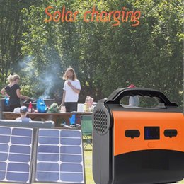 Discount portable power stations - Portable power station AC generator battery with solar power inverter with AC inverter 5V USB 12V 10A Output for camping