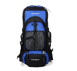 Discount extra packs 55L Large Men's Outdoor scaffold mountaineering bag outdoor travel pack Camping Backpack outdoor shoulder bag trave