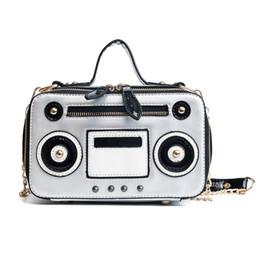 $enCountryForm.capitalKeyWord Canada - Women's Crossbody Messenger Bag Fashion Unique Retro Radio Box Style Pu Leather Ladies Handbag Shoulder Bag Chain Purse