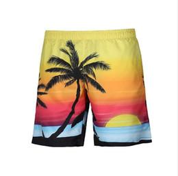 a43d7c417c Brand designer men beach shorts trunks Coco tree 3D printed Top quality New  Summer swimming Board Shorts Fashion swimwear Quick-dry Beach sh