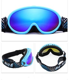 Ski Goggles Mirror NZ - Child Ski Goggles Double Layers UV400 Anti-fog Ski Glasses Professional Children Snowboard Glasses Snowboard Goggles Snow Glasses with Box