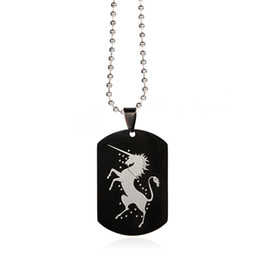 Horse tags online shopping - Horse Necklace Men Vintage Collier Maxi Luxury Jewelry Choker Pendants Necklaces Collares Women Men Stainless Steel Necklace