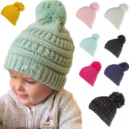 6 colors Ponytail Beanie Hat Girl boy Crochet Knit Cap Winter Skullies  Beanies Warm Caps Female Knitted Stylish Hats MMA471 20pcs b4a80b9d2c39
