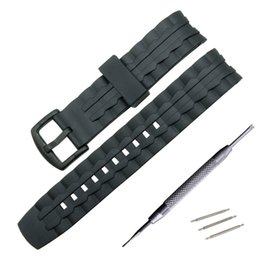 $enCountryForm.capitalKeyWord UK - 22mm Silicone Rubber Watchband For EF550 EF552 Replacement Watch Band Sport Strap Stainless Steel Black Buckle Wrist Bracelet