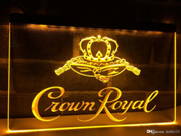 Royal blue cRown online shopping - LE104b Crown Royal Derby Whiskey NR beer Bar LED Light Sign