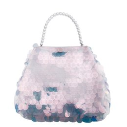 $enCountryForm.capitalKeyWord Canada - Elegant Women Pearls Handle Gorgeous Sequin Handbag Evening Party Clutch Ladies Sweet Small Day Clutches