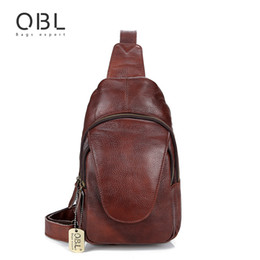 74994068763c QiBoLu 2018 Genuine Leather Sling Bag Men Single Shoulder Bag Men Chest  Pack Messenger Crossbody for Man Sacoche Homme MBA86 vintage leather sling  bags on ...