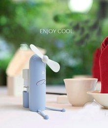 3 цвета Портативный вентилятор творческий мобильный телефон кронштейн мультфильм струи воды мини вентилятор портативный usb вентилятор открытый зарядки